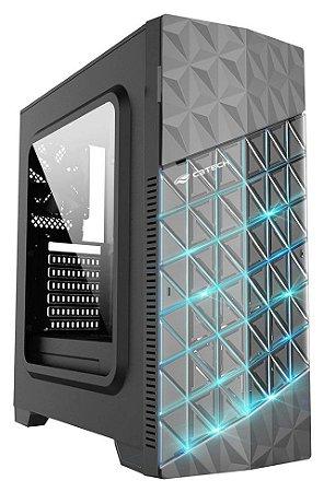 GABINETE GAMER C3TECH MT-G750BK LED RGB 2 COOLER LATERAL DE ACRÍLICO USB 3.0