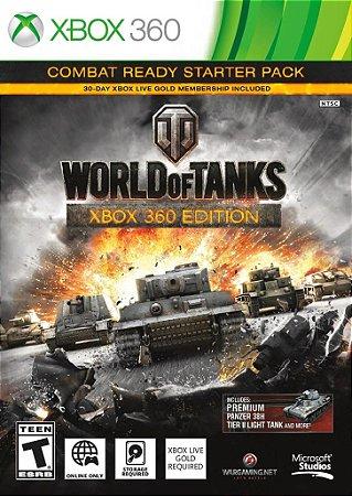 WORLD OF TANKS XBOX 360 EDITION NOVO LACRADO COM 30 DIAS DE LIVE