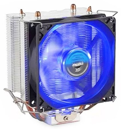 COOLER P/ PROCESSADOR GAMER DEX DX-9000 LED AZUL UNIVERSAL INTEL AMD