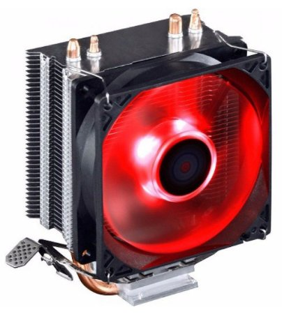 COOLER P/ PROCESSADOR GAMER DEX DX-9000 LED VERMELHO UNIVERSAL INTEL AMD