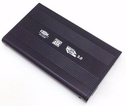 CASE GAVETA ALUMÍNIO PARA HD SSD 2,5 USB 3.0 DEX DX-2530 WINDOWS 10