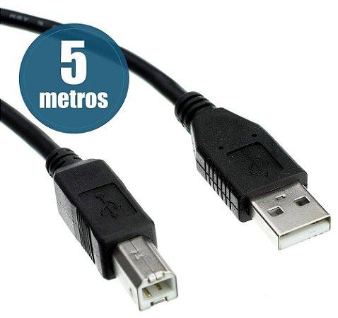 CABO USB P/ IMPRESSORA OU SCANER UNIVERSAL 5 METROS CHIPSCE 018-1407