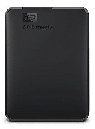 HD EXTERNO PORTÁTIL WESTERN DIGITAL WD ELEMENTS 1TB USB 3.0 WDBUZG0010BBK