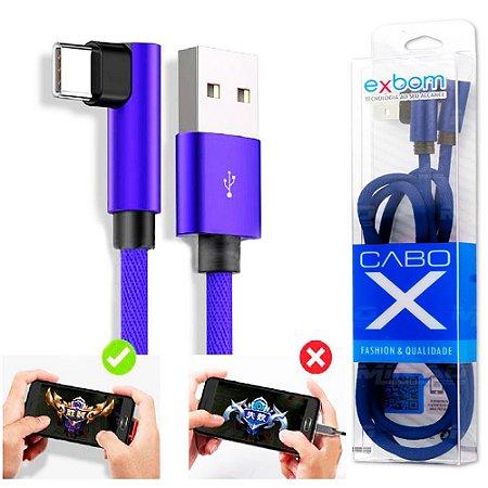 CABO USB X USB TIPO C EXBOM 02949 2.1A CARGA E DADOS 1 METRO