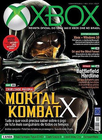MORTAL KOMBAT X REVISTA OFICIAL XBOX EDIÇÃO 106