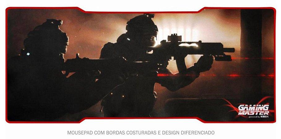 MOUSEPAD GAMER K-MEX FX-X8035 EXTRAGRANDE 79 X 35 CM TEMA JOGO DE TIRO