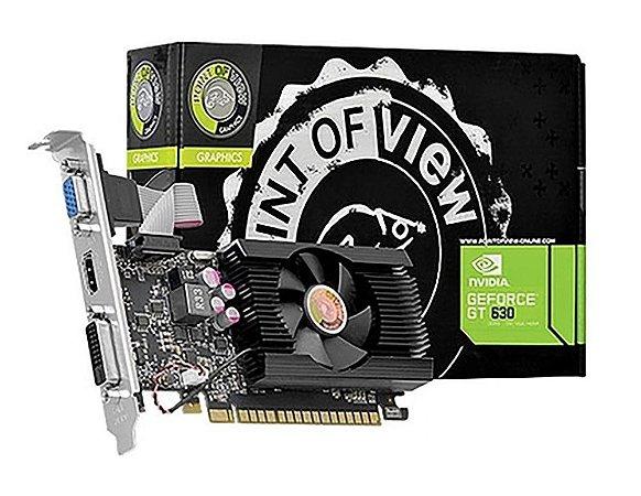 PLACA DE VÍDEO POINT OF VIEW NVIDIA GEFORCE GT630 2GB DDR3 PCI-E 128 BITS VGA-630-C5-2048