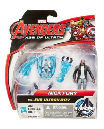 PACK 2 BONECOS VINGADORES A ERA DE ULTRON NICK FURY VS SUB-ULTRON 007 HASBRO