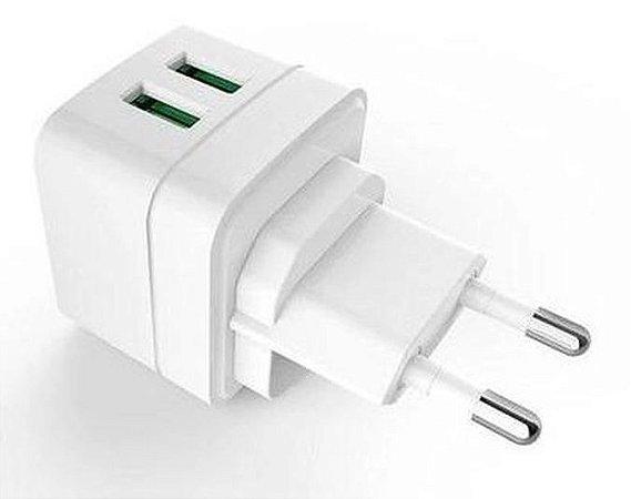CARREGADOR TURBO 2 USB 2.4A C3TECH UC-210WH