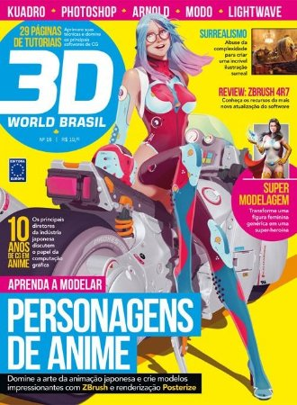 PERSONAGENS DE ANIME REVISTA 3D WORLD BRASIL 18