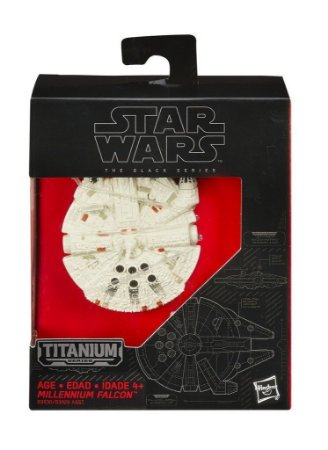 STAR WARS MILLENNIUM FALCON TITANIUM BLACK SERIES HASBRO