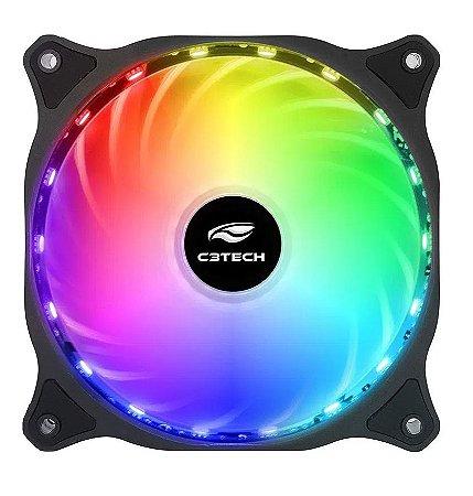COOLER LED RGB 12 CM C3TECH F9-L150RGB 18 LEDS 10 MODOS DE ILUMINAÇÃO