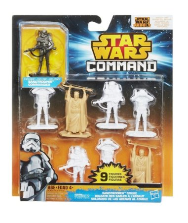 9 BONECOS STAR WARS COMMAND SANDTROOPER STRIKE HASBRO
