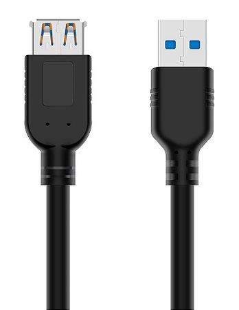 CABO EXTENSOR USB 3.0 3 METROS PLUS CABLE USBAF3030