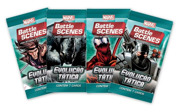 BATTLE SCENES EVOLUÇÃO TÁTICA 4 BOOSTER 28 CARTAS NO TOTAL