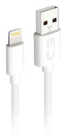 CABO USB LIGHTNING IPHONE 2A 2 METROS RECARGA E DADOS C3PLUS CB-L20WH