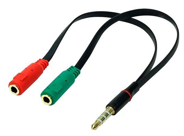 CABO ADAPTADOR P3 X P2 CHIPSCE 018-6045 FONE MICROFONE NO CELULAR
