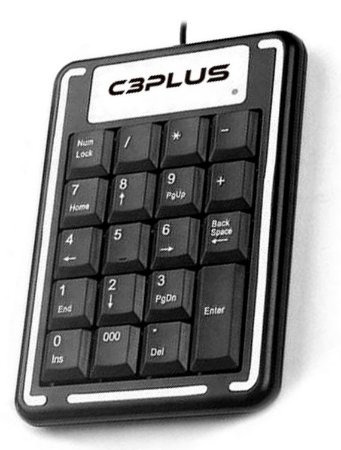 TECLADO NUMÉRICO USB C3PLUS KN-11BK