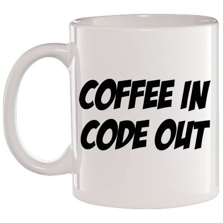Caneca Branca Coffee In Code Out