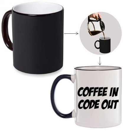 Caneca Mágica Coffe In Code Out