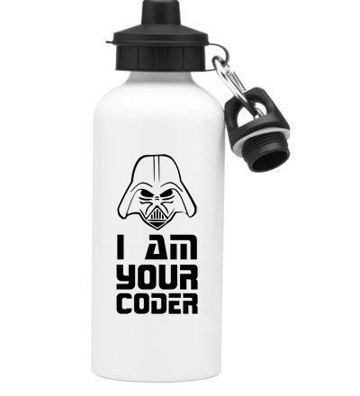 Squeeze Branco de Alumínio I Am Your Coder