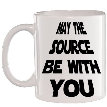 Caneca Branca May the source be with you