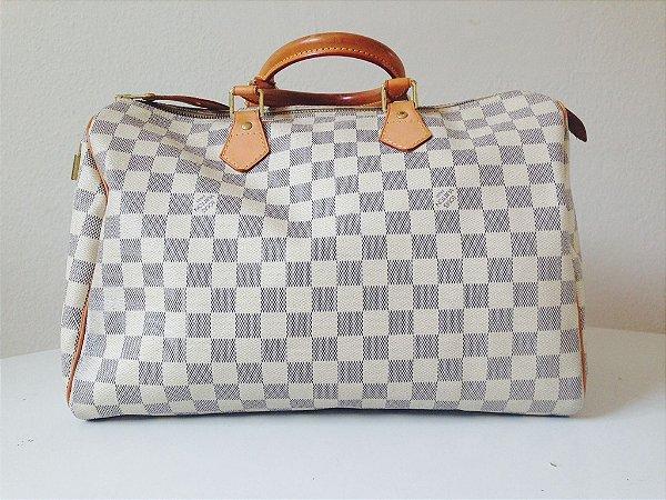 Bolsa Louis Vuitton Speedy 35 Damier Azur