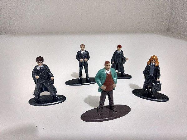 Harry Potter 5 Personagens para Coleção - METAL DIE CAST 4cm