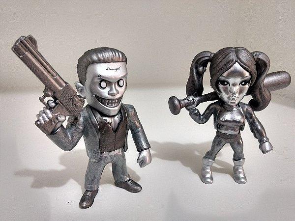 Joker Boss e Harley Quinn - Esquadrão Suicida - METALS DIE CAST 10cm