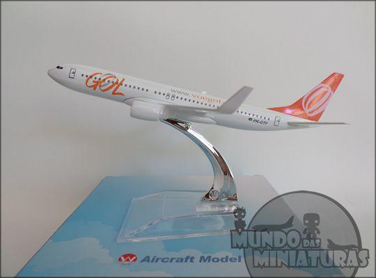 Avião Miniatura - Boeing 737-800 - Gol - Em Metal