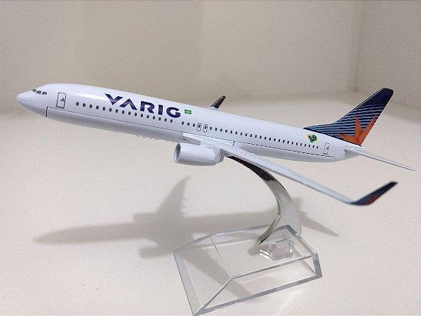 Avião Miniatura - Boeing 737-800 Varig - Em Metal