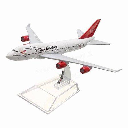 Avião Miniatura - Boeing 747-400 Virgin - Em Metal