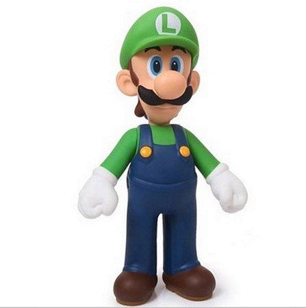 Boneco Miniatura - Luigi - Super Mario - Nintendo