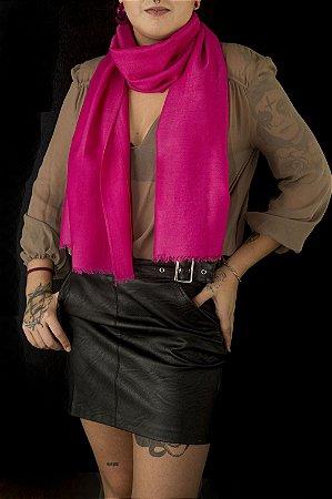 Pashmina de viscose acetinada pink