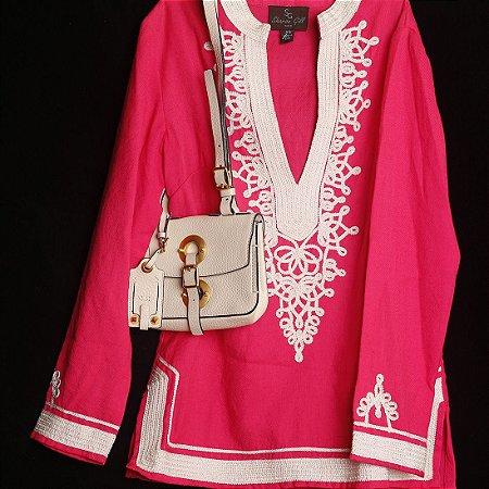 Tunica de Lã da Kashmira Pink