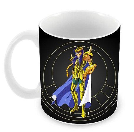 Caneca Cavaleiros do Zodíaco - Milo de Escorpião