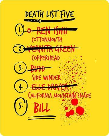 Camiseta Kill Bill - Death List Five