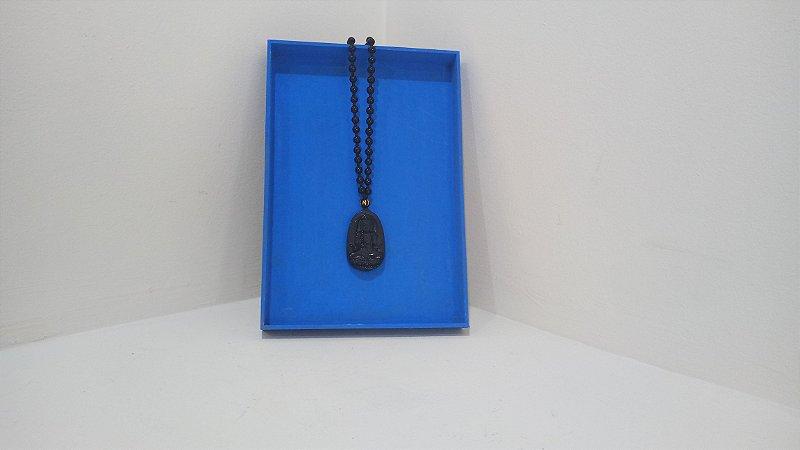 Colar de Obsidiana Negra