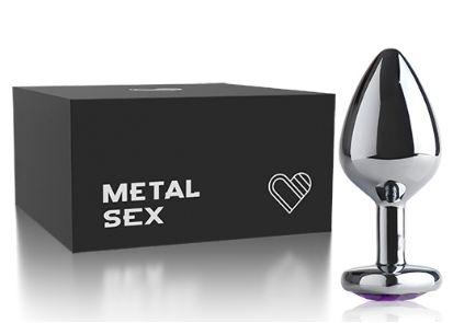 Plug Anal Metal Heart – Cromado