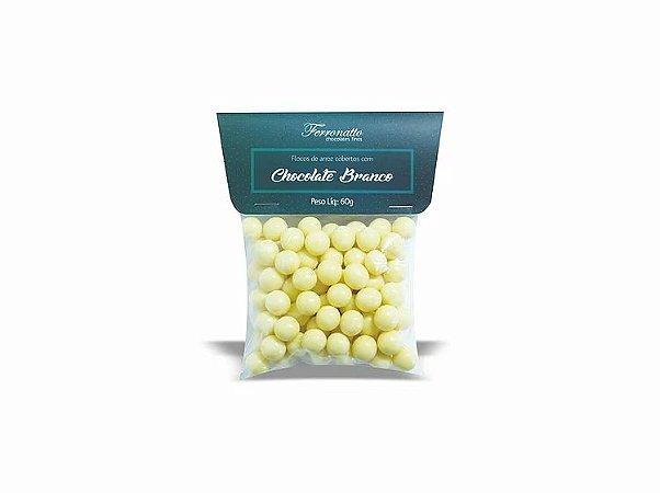 Drageas de flocos chocolate branco 60g Ferronatto