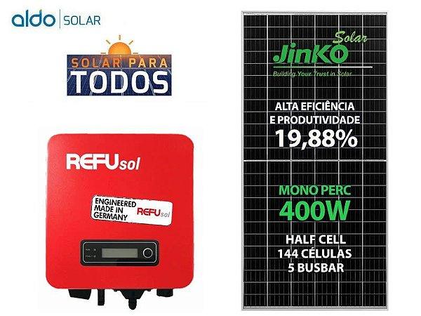 Kit Gerador de Energia Solar 1,6KWP - Refusol, Jinko