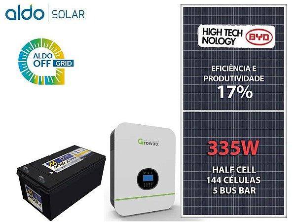 Kit Gerador de Energia Solar - Growatt Off Grid 1,34KWP