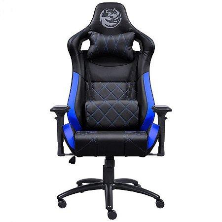 Cadeira Gamer Mad Racer V10 Preto c/Azul - MADV10AZGL