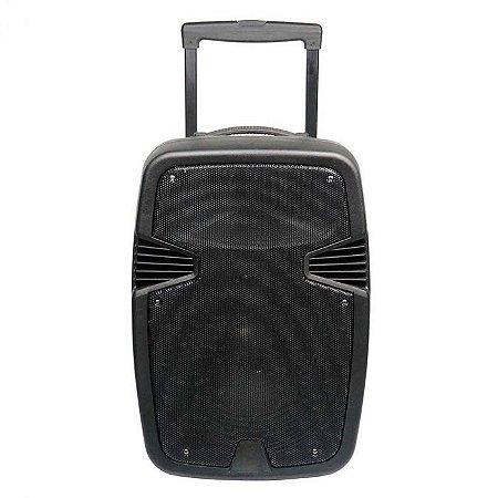 Caixa de Som 250W RMS 15 Polegadas BT/USB/FM/AUX/MIC SP297 - Multlaser