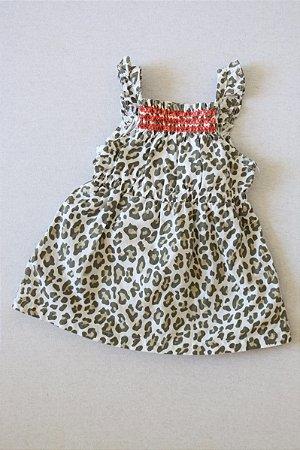 Vestido com Estampa de Animal Print - Tamanho P