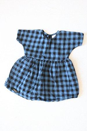 Vestido Xadrez BB BÁSICO - Tamanho M (6-9 Meses)