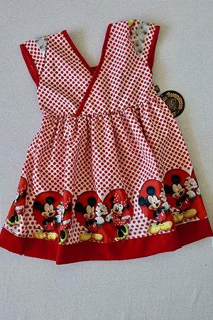 Vestido Mickey e Minnie - Tamanho 12 Meses