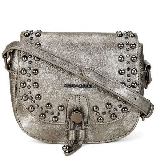 Mini Bag Crossbody Tachas Cravo e Canela Onix