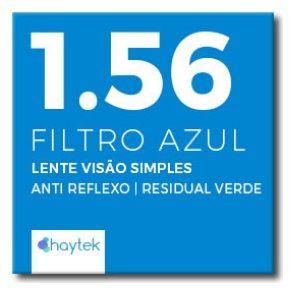 Lente Resina 1.56 Filtro Azul  (Perto ou Longe)