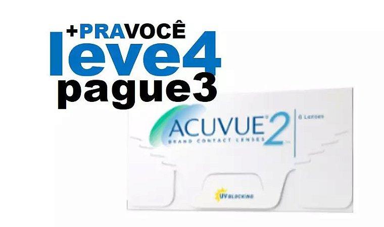 Combo 4 caixas Acuvue 2 Miopia ( - )